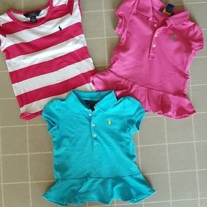 Trio of Girls Polo Tops
